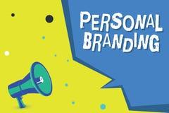 Word het schrijven tekst het Persoonlijke Brandmerken Bedrijfsconcept voor de Marketing van en hun carrières als merken royalty-vrije illustratie