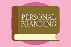 Word het schrijven tekst het Persoonlijke Brandmerken Bedrijfsconcept voor de Marketing van en hun carrières als merken stock illustratie