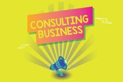 Word het schrijven tekst het Raadplegen Zaken Het bedrijfsconcept voor Adviesbureaudeskundigen geeft Professioneel Advies vector illustratie