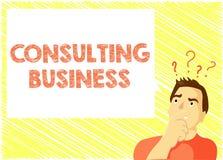 Word het schrijven tekst het Raadplegen Zaken Het bedrijfsconcept voor Adviesbureaudeskundigen geeft Professioneel Advies royalty-vrije illustratie