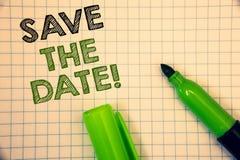 Word het schrijven tekst sparen de Datum Motievenvraag Bedrijfsconcept voor Remember om eender wat niet te plannen die tijd stock afbeelding