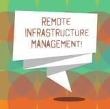Word het schrijven tekst Ver Infrastructuurbeheer Het bedrijfsconcept voor het Leiden van computerhardware en software vouwde 3D stock illustratie