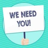 Word het schrijven tekst wensen wij u Bedrijfsconcept voor het vragen van iemand om voor bepaalde baan of doelhand samen te werke vector illustratie