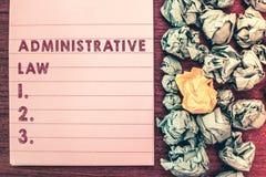 Word het schrijven tekstadministratief recht Bedrijfsdieconcept voor Lichaam van de Orden van Regelsverordeningen door een overhe stock foto's