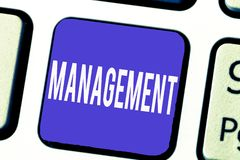 Word het schrijven tekstbeheer Bedrijfsconcept voor Proces die Controlerende dingen behandelen die Bedrijfstrategie tonen royalty-vrije stock afbeeldingen