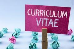 Word het schrijven tekstcurriculum vitae Bedrijfsdieconcept voor van het het ontwerpmalplaatje van de Samenvattingsvoorbereiding  Stock Fotografie