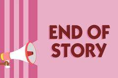 Word het schrijven teksteind van Verhaal Bedrijfsconcept voor Emphasize die niets om Literatuur het schrijven Journalistiekmegafo stock illustratie