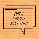 Word het schrijven tekstgegevens Gedreven Opbrengst Het bedrijfsconcept voor maakt strategische beslissingen gebaseerde analysein stock illustratie