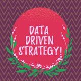 Word het schrijven tekstgegevens Gedreven Strategie Bedrijfsdieconcept voor besluiten op van de gegevensanalyse en interpretatie  stock illustratie