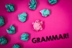 Word het schrijven tekstgrammatica Motievenvraag Bedrijfsconcept voor Systeem en Structuur van Taal het Schrijven de berichten va Stock Afbeeldingen