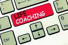 Word het schrijven het tekstleven het Trainen Het bedrijfsconcept voor het Improve Leven door Uitdagingen moedigt ons in onze Car royalty-vrije stock afbeeldingen