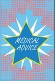 Word het schrijven tekstmedisch advies Het bedrijfsconcept voor Begeleiding van een gezondheidszorgdeskundige over aantonend s is royalty-vrije illustratie