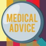 Word het schrijven tekstmedisch advies Het bedrijfsconcept voor Begeleiding van een gezondheidszorgdeskundige over aantonend s is stock illustratie