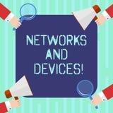 Word het schrijven tekstnetwerken en Apparaten Bedrijfsconcept voor gebruikt om computers of andere elektronische apparaten HU aa stock illustratie
