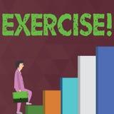 Word het schrijven tekstoefening Bedrijfsconcept voor Activiteit die fysieke inspanning vereisen die in spel Opleiding brengen vector illustratie