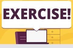 Word het schrijven tekstoefening Bedrijfsconcept voor Activiteit die fysieke inspanning vereisen die in spel Opleidingsspatie bre stock illustratie