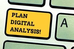 Word het schrijven tekstplan Digitale Analyse Bedrijfsconcept voor Analyse van kwalitatieve en kwantitatieve digitale gegevens royalty-vrije stock fotografie