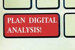 Word het schrijven tekstplan Digitale Analyse Bedrijfsconcept voor Analyse van kwalitatieve en kwantitatieve digitale gegevens royalty-vrije stock foto's