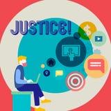 Word het schrijven tekstrechtvaardigheid Bedrijfsconcept voor onpartijdige aanpassing van tegenstrijdige eisen of takenmensenzitt royalty-vrije illustratie
