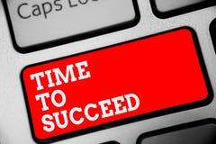 Word het schrijven teksttijd te slagen Het bedrijfsconcept voor Thriumph-de Voltooiing van het kanssucces bereikt uw doelstelling royalty-vrije stock afbeelding