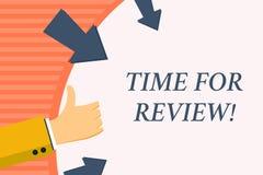 Word het schrijven teksttijd voor Overzicht Bedrijfsconcept voor formele beoordeling van iets met bedoeling die verandering inste stock illustratie