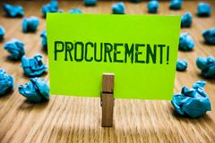 Word het schrijven tekstverwerving Motievenvraag Bedrijfsconcept voor het Verkrijgen van Aankoop van materiaal en leveringsdocume stock fotografie