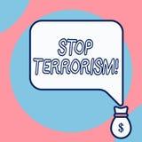 Word het schrijven het Terrorisme van het teksteinde Bedrijfsconcept voor het Oplossen van de nog te behandelen kwesties met betr royalty-vrije illustratie