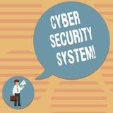 Word het schrijven het Veiligheidssysteem van tekstcyber Bedrijfsconcept voor Technieken om computers tegen binnen het binnendrin stock illustratie