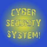 Word het schrijven het Veiligheidssysteem van tekstcyber Bedrijfsconcept voor Technieken om computers tegen het binnendringen in  royalty-vrije illustratie