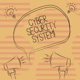 Word het schrijven het Veiligheidssysteem van tekstcyber Bedrijfsconcept voor Technieken om computers tegen binnendringen in een  royalty-vrije illustratie