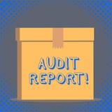 Word het schrijven het Verslag van de tekstcontrole Bedrijfsconcept voor Geschreven advies van een auditor over bedrijven financi vector illustratie