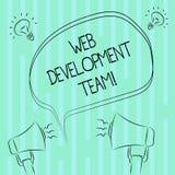Word het schrijvende Ontwikkelingsteam van het tekstweb Bedrijfsconcept voor een team van ontwikkelaars die voor een uiteindelijk stock illustratie