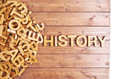Word history made with wooden letters Stock Image