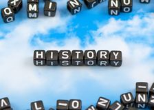 The word history Royalty Free Stock Photos
