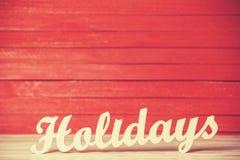 Word Holidays Stock Image
