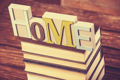 Word Home and books Royalty Free Stock Photos