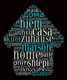 Word Home in different languages Royalty Free Stock Photo