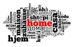 Word Home in different languages Royalty Free Stock Photos