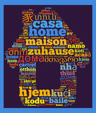 Word Home in different languages Royalty Free Stock Image