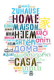 Word Home in different languages Royalty Free Stock Photography