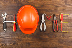 Word home made from construction tools Royalty Free Stock Photography