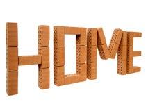 Word home mini brick_left Stock Photos
