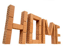 Word home mini brick_perspective Stock Image