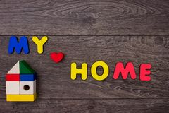 Word Home from wooden letters Royalty Free Stock Photo