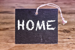 The word Home written on chalkboard Royalty Free Stock Image