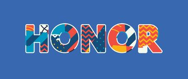 Honor Concept Word Art Illustration royalty free illustration