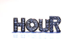 Word HOUR on white background Royalty Free Stock Image