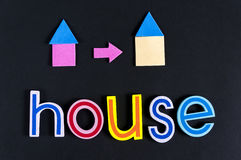 Word of House. Composed on blackboard - Investment Concept Stock Photo