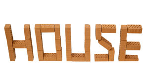 Word house mini brick_high Stock Photos