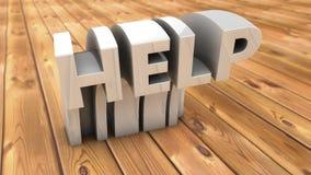 Word hulp en parketvloer vector illustratie